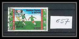 Bénin Dahomey 246 Michel N°657 Oblitéré Football (Soccer) Mexico 1986 Surchargé Overprint Cote 50 Euros - 1986 – México