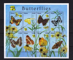 Ghana 1999 Yvert 2373/2380 ** Vlinders - Butterflies Papillons Mariposas Farfalle Schmetterlinge - Ghana (1957-...)