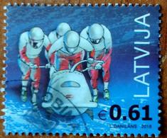 Latvia Lettland , Lettonia .2018.Bobsleigh.XXIII Olympic Winter Games. In South  Korea (o) Used - Latvia