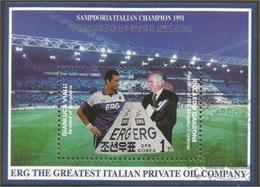 Korea ERG Oil Company Pétrole Italie Sampdoria Football Soccer (A54-8) - Aardolie