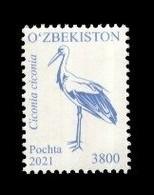 Uzbekistan 2021 Mih. 1430 Definitive Issue. Fauna. Birds (IX) MNH ** - Usbekistan