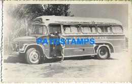158015 ARGENTINA AUTOMOBILE OLD BUS AUTOBUS LINEA 15 PHOTO NO POSTAL POSTCARD - Argentinien