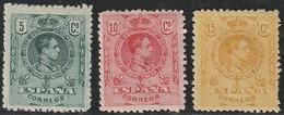 1909. * Edifil: 268/69, 271. ALFONSO XIII-MEDALLON - Ongebruikt