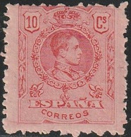 1909. * Edifil: 269. ALFONSO XIII-MEDALLON. DEFECTO DE DENTADO - Ongebruikt