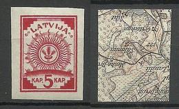 LETTLAND Latvia 1918 Michel 1 Inverted Map * - Latvia