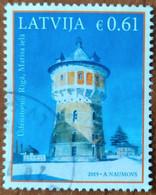 2019 Latvia Lettland Lettonie  Latvian Arhitekture - Water Tover  Used (o) - Latvia