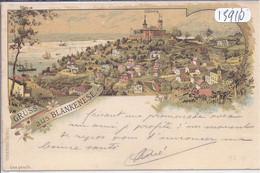 HAMBOURG- BLANKENESE- GRUSS AUS BLANKENESE- BELLE LITHO ECRITE EN 1896 - Blankenese