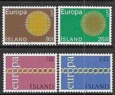 Iceland   1970-1   Europa Sets   MNH  2016 Scott Value $11 - Ungebraucht