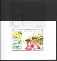 Pitcairn Islands 2000 Flowers London Stamp Show Miniature Sheet As Imperforate Printer Proof - Pitcairn Islands