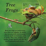 Nevis 2020   Fauna  Tree Frogs   I202104 - St.Kitts And Nevis ( 1983-...)