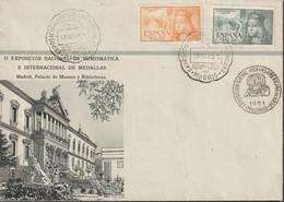 1951-CARTA-Edifil: 1097/98. ISABEL CATOLICA AEREO. SIN CIRCULAR. Matasello Conmemorativo - 1951-60 Lettres