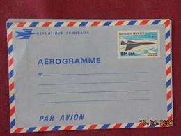 Aérogramme En Poste Aérienne Avec Concorde Surchargé - Lettres & Documents