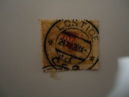 CZECHOSLOVAKIA  USED  STAMPS OVERPRINT  WITH   POSTMARK  LOSTICE  1920 - Unclassified