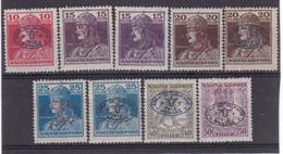 # Z.9777 Hungary, Debrecen I. 1919 Romanian Occupation Hungarian Full Set Overprint MNH, MH: Karl + Zita - Debreczen