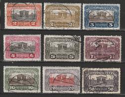 Autriche N° 214 - 222 - Gebruikt