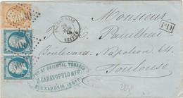BFE Lettre D'ALEXANDRIE à Destination De TOULOUSE - GC 5080 - 1849-1876: Klassik