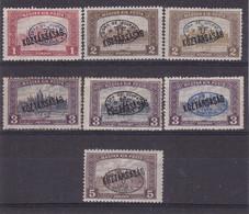 # Z.9781 Hungary, Debrecen I. 1919 Romanian Occupation Hungarian 6 Stamps Overprint MNH, MH: Parlament Kőztársaság - Debreczen