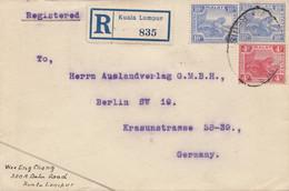 Malaysia: 1922: Registered Kuala Lumpur To Berlin - Malaysia (1964-...)
