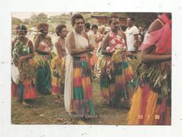 Cp , VANUATU (ex Nouvelles Hébrides) , Costumes , Custom Dress Of The Island Of TANNA ,écrite - Vanuatu