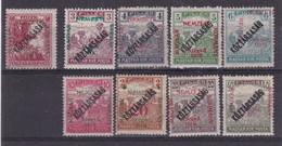 # Z.9794 Hungary, French Occupation In Szeged 1919 Hungarian Full Sets Overprint MNH: Help War, Harvester - Kőztársaság - Szeged