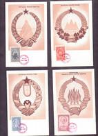 7 Schöne   ALTE  AK   JUGOSLAWIEN - Wappen Der Verschiedenen Republiken - 1948 Gestempelt - Serbia