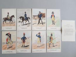 Ref6284 Lot De 8 CPA Militaria Bucquoys - Uniformes Du 1er Empire - Gendarmerie D'Élite - 28e Série - Uniformen