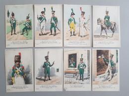 Ref6290 Lot De 8 CPA Militaria Bucquoys - Uniformes Du 1er Empire - Régiment De La Tour D'Auvergne - 36e Série - Uniformen