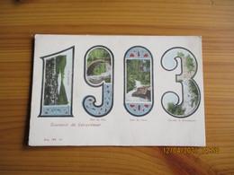 Carte  Colorise Vue Multiples Dans Annee 1903 Geradrmer - Gerardmer