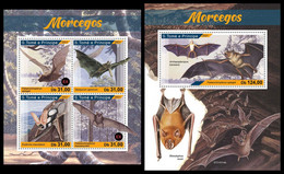 S. TOME & PRINCIPE 2021 - Bats. M/S + S/S. Official Issue [ST210114] - Sao Tome And Principe