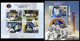 S. TOME & PRINCIPE 2021 - Apollo 14. M/S + S/S. Official Issue [ST210115] - Sao Tome And Principe
