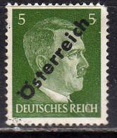 AUSTRIA ÖSTERREICH 1945 HITLER GERMANY OVERPRINTED SOPRASTAMPATO DI GERMANIA 5pf MH - 1945-60 Ongebruikt