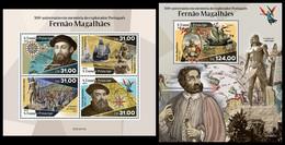 S. TOME & PRINCIPE 2021 - Ferdinand Magellan. M/S + S/S. Official Issue [ST210117] - Sao Tome And Principe