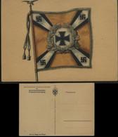 WW II Postkarte: Fahne,Flagge Der Flieger Ungebraucht. - Weltkrieg 1939-45