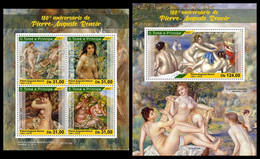 S. TOME & PRINCIPE 2021 - Pierre-Auguste Renoir. M/S + S/S. Official Issue [ST210120] - Sao Tome And Principe