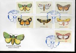 ANGOLA   FDC 1984 Papillons - Schmetterlinge