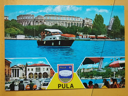 KOV 29-30 - PULA, Croatia, Istra, Arena, Amphithéâtre, Amphitheater, Ship, Navire, Truck, Camion - Croatia