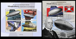 S. TOME & PRINCIPE 2021 - Hindenburg Zeppelin. M/S + S/S. Official Issue [ST210122] - Sao Tome And Principe