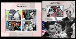 S. TOME & PRINCIPE 2021 - Clark Gable. M/S + S/S. Official Issue [ST210125] - Sao Tome And Principe