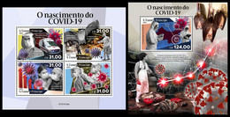 S. TOME & PRINCIPE 2021 - COVID-19. M/S + S/S. Official Issue [ST210124] - Sao Tomé Y Príncipe