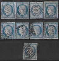 France - N° 60C - Cérés 25c  - Lot De 9 Timbres Pour étude - 1871-1875 Ceres