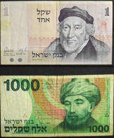 Billets > Israel > 2 BILLETS De BANQUE Divers De Collection - BE - Israel