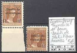 NB - [856346]TB//**/Mnh-Luxembourg  - Franchise, 1f Brun, Droits De Statistiques, Nuances - Collections