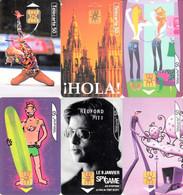 6 Télécartes 50 U Hola, Essayage, Bercy, Vivez La Ville, Redford, Soleil Vacances - Collections