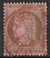France - N° 58 - Cérés 10c  - L Oblitération Rouge Des Journeaux - 1871-1875 Cérès