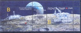 """2016. Transnistria, Space, 45y Of First Moon Landing By Soviet Station """"Lunokhod 1"""", S/s,  Mint/** - Moldova"""