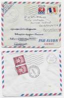 FM DRAPEAU LETTRE ST LAURENT MARONI GUYANE 1966 POUR PARIS REEX BLASON 30C PARIS POUR YOUGOSLAVIE TAXE AU DOS RARE - 1941-66 Wapenschilden