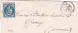 France LSC Losange GC 1876 Joigny 12/03/67 / YT 29A - 1862 Napoleon III