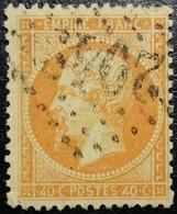 N°23. Napoléon 40c Orange. Oblitéré Losange G.C. N°2049 Limoges - 1862 Napoleon III