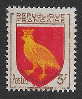 FRANCE 1954  YT 1004 Neuf ** - Armoirie Aunis Couleur Rouge Très Décalée Vers Le Bas - Ongebruikt