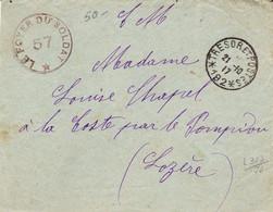 France LAC Foyer Du Soldat FM Trésor Et Postes Avec étoiles 27/10/17 - Oorlog 1914-18